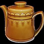 1960's Homer Laughlin Granada Harvest Gold Tea Pot