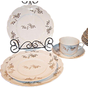Early 1900's Antique Homer Laughlin Hudson Dinnerware (Service for Four)