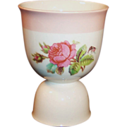 Homer Laughlin Moss Rose Double Egg Cup