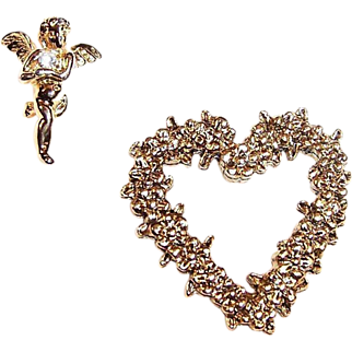 SALE Valentine's Day Heart & Cupid Scatter Pins