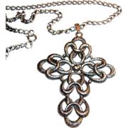 Sarah Coventry Cross Pendant Necklace