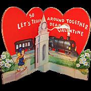 Unique Vintage Pop Up Train Station Valentine (Unsigned)