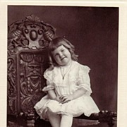 Antique Victorian Studio Portrait Photograph ~ Smiling Catherine