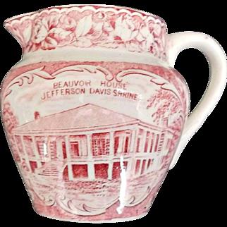 Pink White Transfer Creamer Beauvoir House Jonroth Adams England