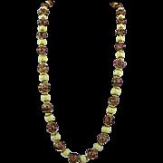 Vintage Venetian Wedding Cake Bead Necklace with Matching Earrings