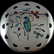 Zuni Inlay Bird of Prey Pendant by Randolph & Margie Ghahate
