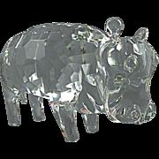 Pino Signoretto Faceted Hippopotamus Sculpture made in Murano, Signed