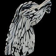 Archimede Seguso Murano Horse Head with Label