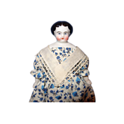 Small Flat Top China Doll