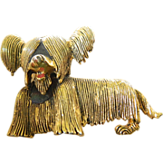 Adorable Skye terrier dog- Pin- signed