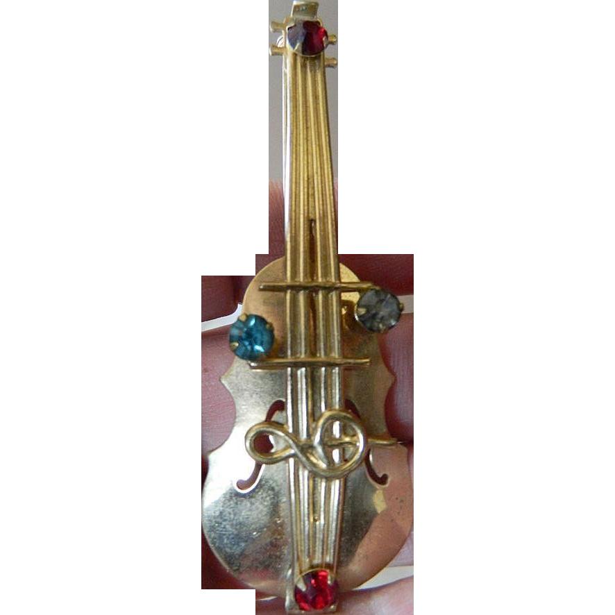 Lovely 1930's pin- Cello