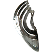 Exquisite- designer made and signed- Sterling angular Pin
