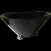 SALE Elegant- Wood bowl -sterling Feet-signed-John Hasselbring