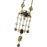 Fabulous large dangling pendant- Necklace