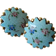 1930-1940's Enameled Earrings