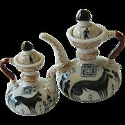 Delightful pair-Mini porcelain tea Pots