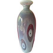 Dynamic- bold and tall Fenton vase