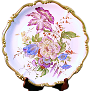 Rosenthal Selb Bavaria Pompadour Hand Painted Design Charger, Signed