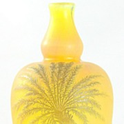 Devez Palm Tree Pattern Cameo Vase