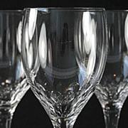 "Orrefors ""Prelude"" Pattern Claret Glasses"