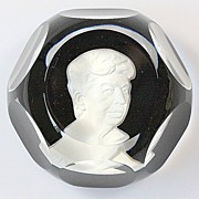 Baccarat Sulfide Paperweight of Eleanor Roosevelt