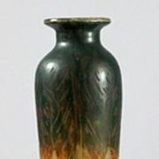 """Le Verre Francais """"Feuilles d'Oseille""""  Vase by Schneider"""