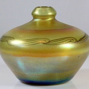 Tiffany Favrile Iridescent Patterned Vase