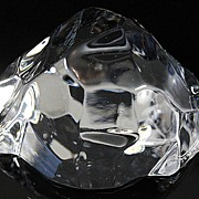 Val St. Lambert Crystal Paperweight