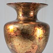 Glass Vase with Applied Foil Decoration by Il Gualduccio