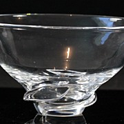 "Steuben ""Spiral"" Bowl by Donald Pollard"