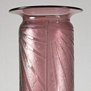 """Schneider """"Luxor"""" Pattern Acid Etched Vase"""