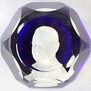 Baccarat Limited Edition Sulphide Paperweight of Herbert Hoover