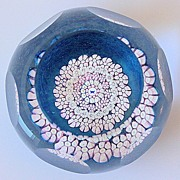 Caithness Whitefriars Butterfly Cane Paperweight