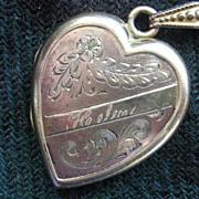 """""""Helen"""" Vintage Heart Shaped GF Locket"""