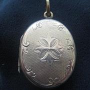 Beautifully Engraved Vintage Rose Gold Filled Locket