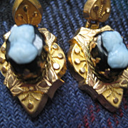 Victorian Gold Filled Cameo Earrings ONLY