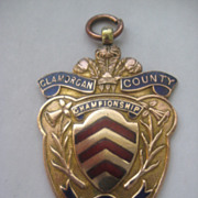 Lg Vintage Copper/Enamel  GLAMORGAN, Wales Medal