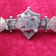 Early 1900s English Silver Brooch w/Faith,Hope & Charity