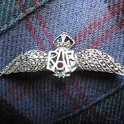 Fabulous WW11 Silver Marcasite RAF Sweetheart Brooch