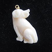 Adorable Angel Skin Coral Dog Pendant