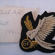 1970s Gulf Airlines Bullion Pilot's Badge