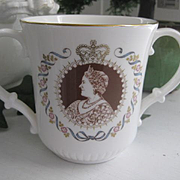 Royal Doulton Loving Cup Queen Mother 80th Birthday