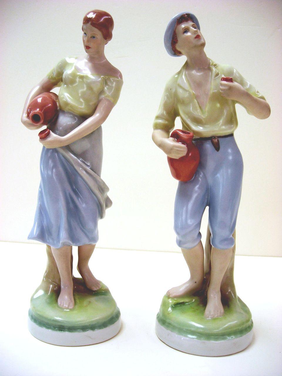 Royal Dux Porcelain Figurines,  Young Couple - Czechoslovakia