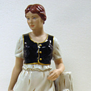 Royal Dux Large Porcelain Figurine of  A Water Girl