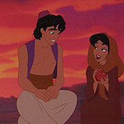Aladdin & Jasmine - Sunset Romance, Ltd Ed Cel by Disney Stds
