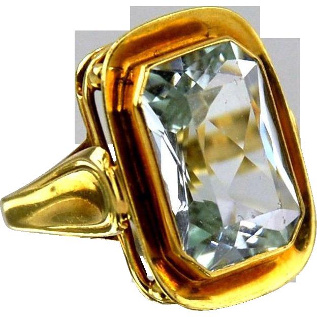 Aquamarine Ring 14kt Yellow Gold - 9.51cts