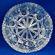 American Brilliant Period Cut Glass Dish - J. Hoare & Co.