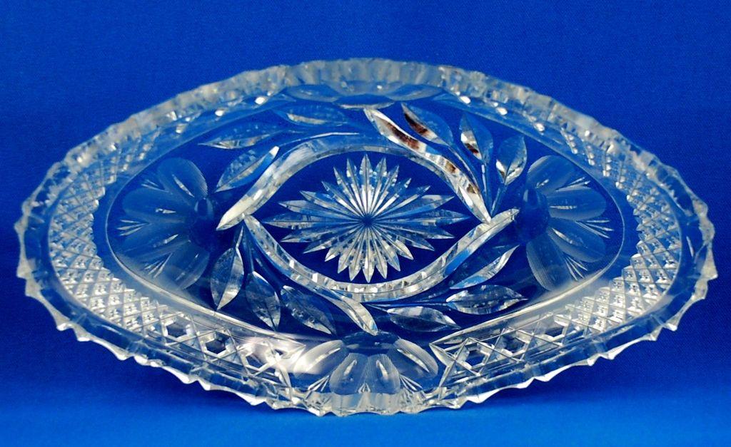 American Brilliant Period Cut Glass Dish - H. C. Fry