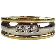 Diamond Man's Ring - 14kt Two-tone Gold
