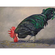Oil Painting on Canvas by Lee Mims - Rooster